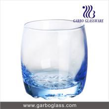 Copa de agua azul de color sólido Copa de agua Punto de punto inferior