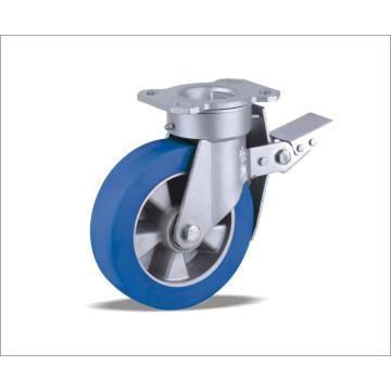 Roulette pivotante avec roue en polyuréthane