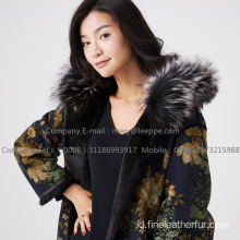 Kopenhagen Reversible Mink Fur Hooded Coat In Winter