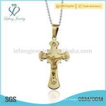 Gold jewelry main material 24k gold jesus cross pendant jewelry