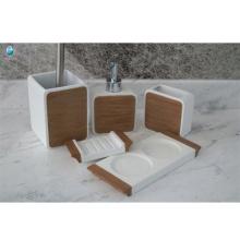 accesorios completos de baño de lujo jabonera real y dispensador de jabón de espuma