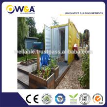 Maison modulaire de contenants préfabriqués 20/40 pieds pour dortoir, département unique