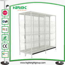 Gondola Shelf Supermarket Display Shelving with Wire Basket