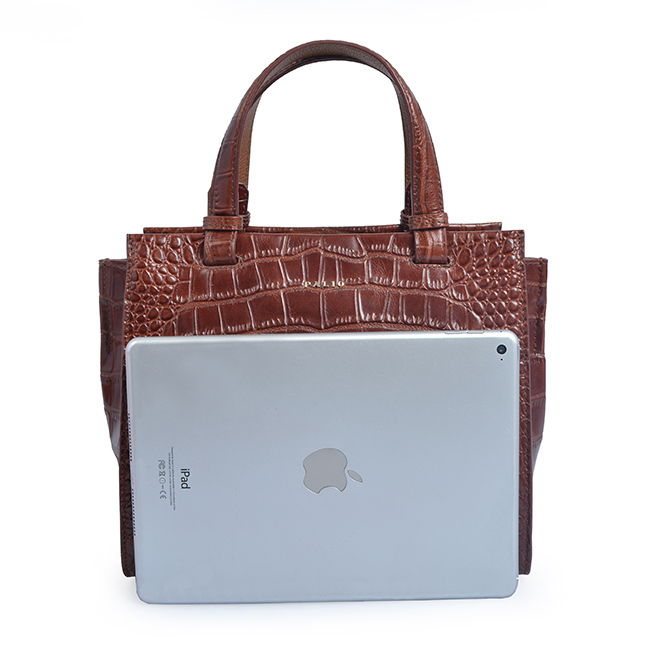 crocodile grain tote bag fashion women's bag