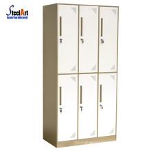 School furniture hot sale dormitory used six door wardrobe