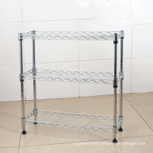 Multifunction Adjustable Chrome Metal Wire Small Stacking Shelf, NSF Approval