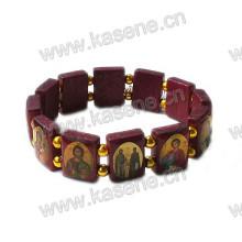 Venda quente de madeira santos Santo Rosário pulseira