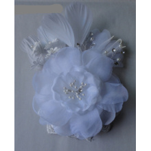 Fashion Ladies White Bridal Flower Brooches For Wedding