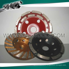 Turbo Diamond Cup Wheel for Grinding Stone Concrete (SG-104)