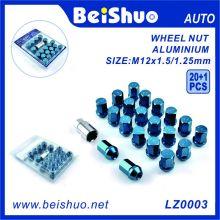 20+1 PCS Hex Aluminium Galvanized Wheel Nut Set