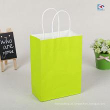 Fábrica diretamente sacos de papel brancos amigáveis de Kraft do presente de Eco com punhos