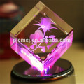 3D Laser Crystal ,beautiful crystal rose for gifts or wedding favors