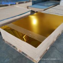 2mm golden building decorative self-adhesive flexible acrylic mirror sheet for advertising