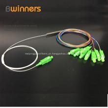Divisor de fibra de tubo de aço 1x8 PLC