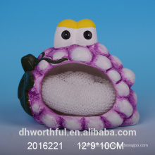 Decorative ceramic sponge holder in grape shape