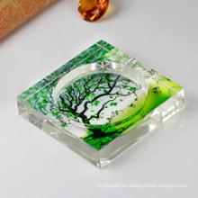 Cenicero de árbol de cristal que desea para la decoración del hogar y de la oficina (JD-CA-601)
