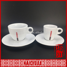 90cc/220cc cheap plain white porcelain tea cup and saucer