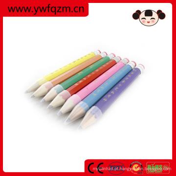 lápis de cor jumbo artesanato de madeira natureza com logotipo para promover