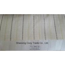 Nouveau rayon de rayures populaires Corss Organza Voile Sheer Curtain Fabric 008269