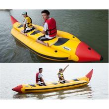 Accrocheur jaune banane gonflable, bateau jouet