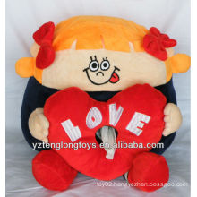 promotional household plush heart doll tissue box