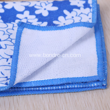 Printed Microfiber Towel With Nylon Mesh