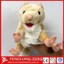 Marionetas de mano y la historia de peluche marioneta de mano de perro