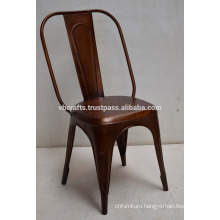 industrial metal copper color chair