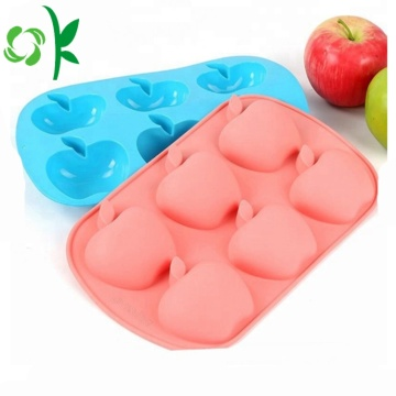 Apple Shape Cake Mugg Rolig Silikon 6Cavity Mould