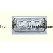 Rectángulo Lámpara de marca lateral transparente para camiones Remolques