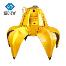 Material, das Ausrüstung von elektrischen hydraulischen orange Schalen-Zupacken behandelt