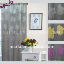 Rod Pocket Readymade Pinch Plain Imitated Silk Window Curtains