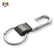 Men custom leather keychain for car