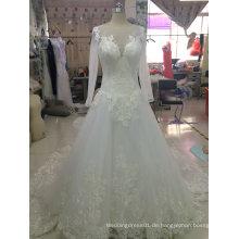 Zarte Spitze Appliques Eine Linie Brautkleid Kleid