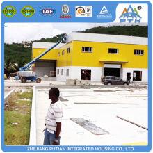 Edificio de acero popular popular prefabricado de invernadero