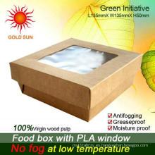 El más nuevo empaquetado de los alimentos de preparación rápida 2013, caja cuadrada de los alimentos de preparación rápida con la ventana