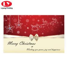 Impresión de tarjetas de regalo de Navidad feliz con diseño personalizado