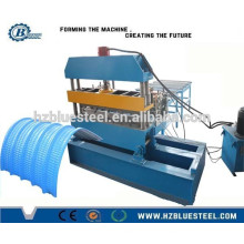 Full Automatic PLC Roofing Sheet Colored Metal Crimping Machine , Crimping Roll Forming Machine