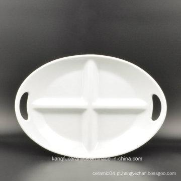 Uso Diário 4 Grades Placa De Cerâmica Oval