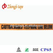 orange underground non-detectable warning tape
