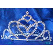Tiara de encargo de la tiara de la tiara de la princesa de la tiara de la perla tiara nupcial de la tiara de la tiara de la tiara fijada