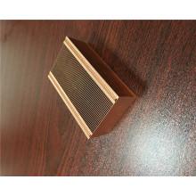 Disipador de calor con aleta de cobre con cremallera