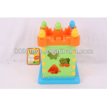 Castle puzzle (shape sorter for children to learn)