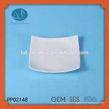 Placa quadrada, placa cerâmica para o hotel, placa de dinnerware personalizado, placa de cerâmica