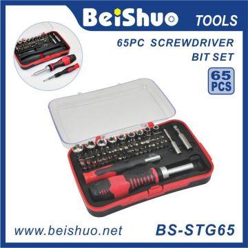 65 PCS Cr-V6150 Reparaturwerkzeug-Kit Schraubendreher Bit Set