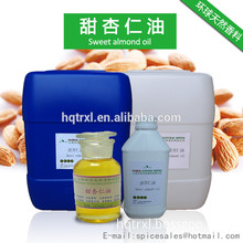 Pure natural sweet almond oil,almond oil,food additive oil,base oil,carrier oil,CAS 8007-69-0