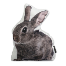 Grey sitting Rabbit door stop