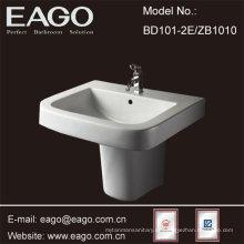 Lavabo semi-pedestal para baño de cerámica EAGO