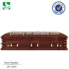 JS-A611 razoáveis caixões de madeira personalizada