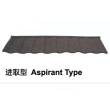 Aspirant Typ Stein beschichtet Metall Dachziegel